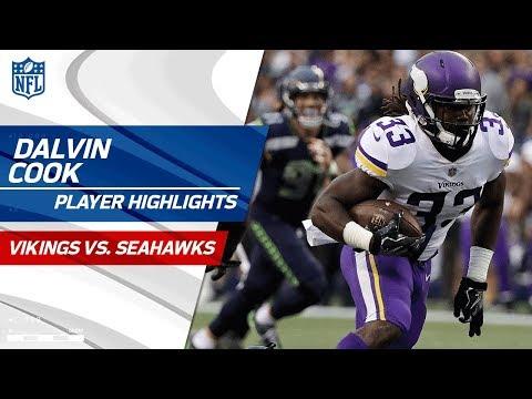 Every Dalvin Cook Play Against Seattle Vikings Vs Seahawks Preseason