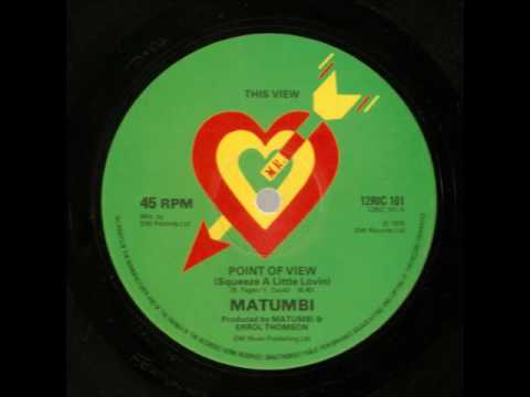 Matumbi ''Point Of View (Squeeze A Little Lovin)''  12'' mix