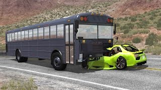 BUS VS CAR (Crash Testing) - BeamNG DRIVE