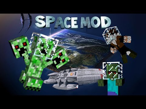 Minecraft: Space mod - ALIEN CREEPER. MUTANT VILLAGERS & MORE (SMP)