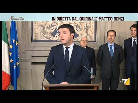 Il discorso di Matteo Renzi per l'incarico di Governo