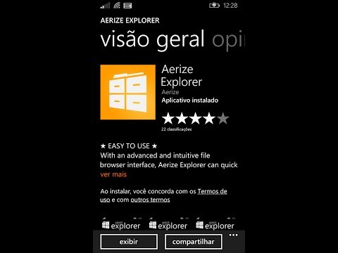 Gerenciador de Arquivos Aerize Explorer para Windows Phone 8.1