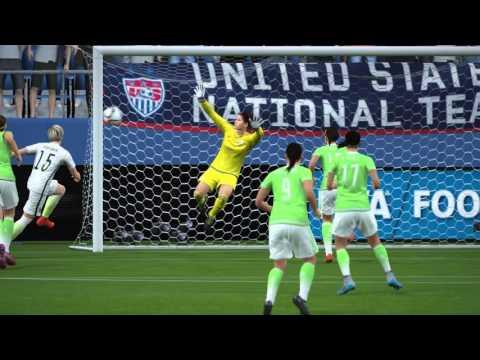FIFA 16 - USA vs. Mexico Women's International Friendly Gameplay