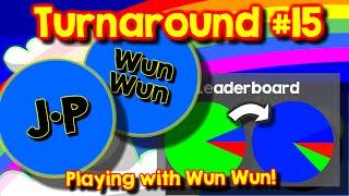 Agario Team Mode Turnaround #15, playing with Wun Wun, the real one
