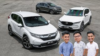 DRIVEN 2018: Honda CR-V vs Mazda CX-5 vs Peugeot 3008 SUV - Malaysian review