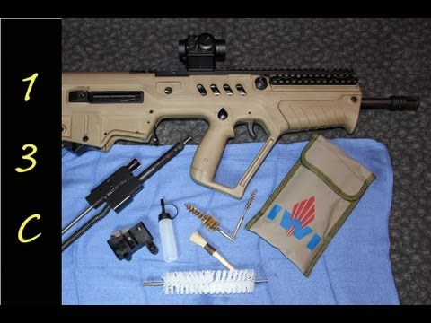 IWI Tavor SAR : Take Down and Cleaning Review.  Breakdown of a bullpup with Slip 2000