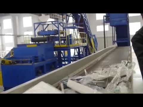 MSW(municipal solid waste) sorting machine to Singapore(80TPD)------www.egmachinery.com