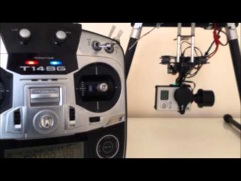 DYS Smart 3 Axis Gimbal - Demo using 3 channels for control