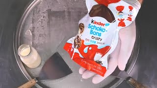 kinder Schoko Bons Crispy Ice Cream Rolls | how to make Japanese kinder Chocolate Ice Cream | ASMR