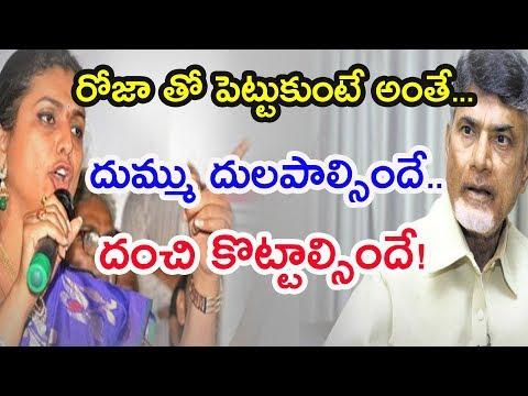 రోజా తో పెట్టుకుంటే అంతే.. || YCP MLA Roja fires at Chandrababu || Pulihora News