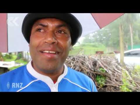 Voters brave heavy rain in Fiji election