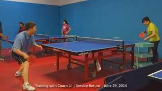 Training with Coach Li: Service Return