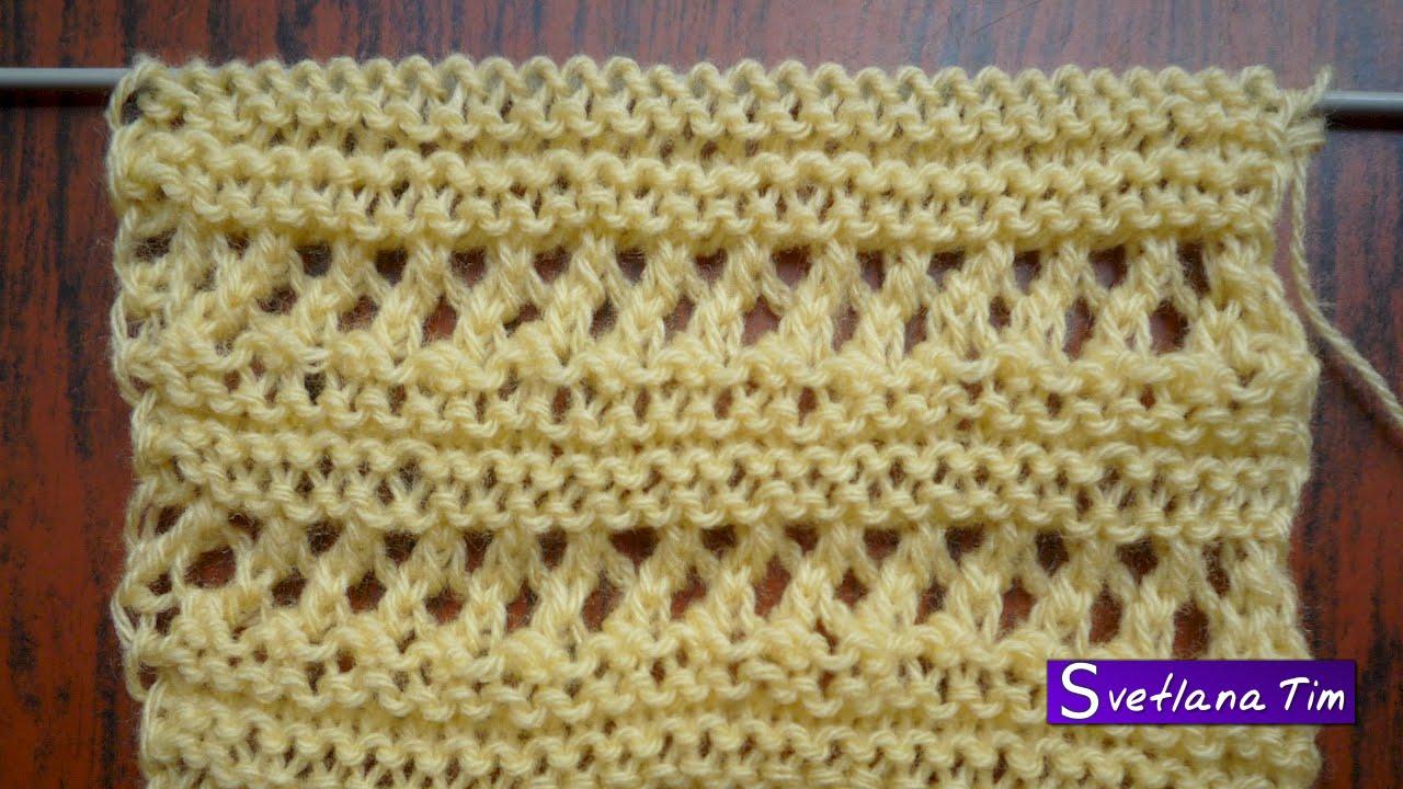 Красивые полоски для вязания спицами