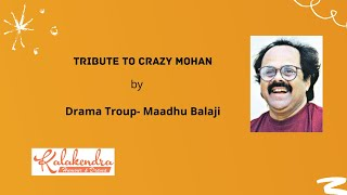 Maadhu Balaji Hilarious  Speech about Crazy Mohan