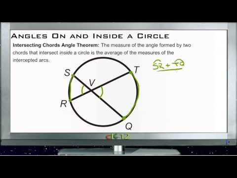 Angles On and Inside a Circle Principles - Basic