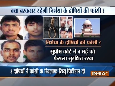 Nirbhaya case: Supreme Court to pronounce verdict today on review petitions of three convicts