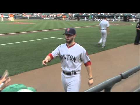 Dustin Pedroia Signing Autographs At Camden Yards