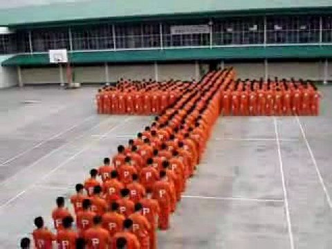 prisoners dancing ( making a cross)