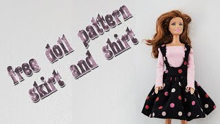 Make your own doll clothes - skirt and shirt 21