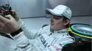 Nico Rosberg erklärt seine Sitzposition