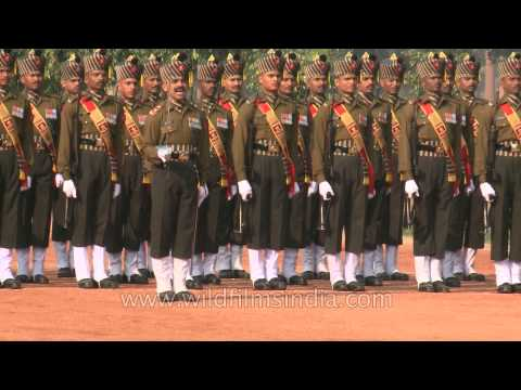 Ceremonial changing of the Guard at Rashtrapati Bhavan, Delhi
