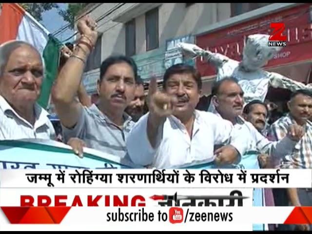 Protests in Jammu Kashmir against massacre of Rohingya Hindus in Myanmar