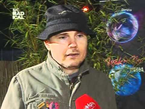 Smashing Pumpkins - Interview with Billy Corgan - Rock in Rio 2012 Lisbon May 26th