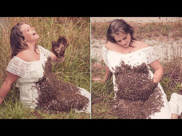 Woman Who Took Maternity Photos Covered in 20,000 Bees Delivers Stillborn