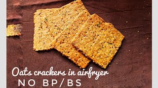 Oats crackers recipe |vegan lockdown recipe|Healthy Oatmeal Sesame Crackers| Flavor Bombs