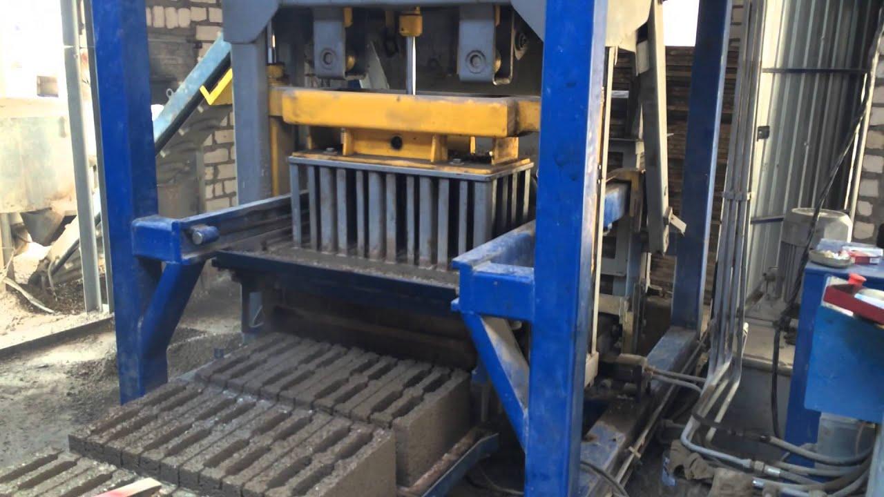 Производство пескоблоков как бизнес: оборудование, станок 20