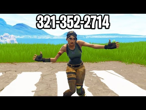 I put my PHONE NUMBER in my Fortnite Name & DANCED after every kill...