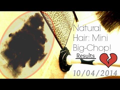 Natural Hair Trim Turned Into Mini Big-Chop ! (Results)