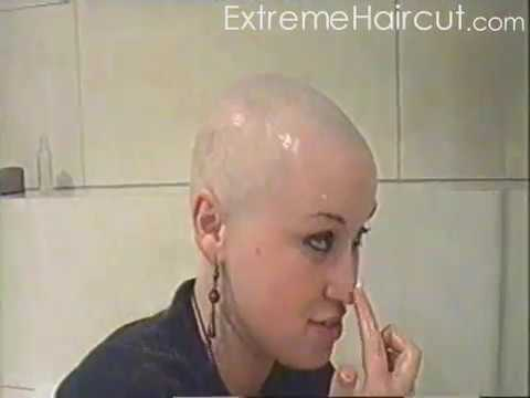 ExtremeHaircut model - Kinky hairdresser - shaved head