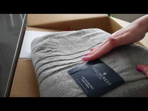 Unboxing towels/Hand Movements (Soft Spoken)