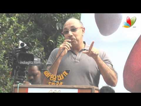 Sathyaraj's Motivational Speech for Vijayakanth's Son   Sagaaptham Movie Launch   Vijayakanth Comedy
