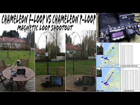 Chameleon F-LOOP vs P-LOOP - Ham Radio Magnetic Loop Antenna Shootout