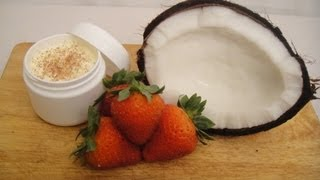 Crema exfoliante de Coco y Fresa ♥ Coconut and Strawberry exfoliating cream