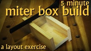 Make a Miter Box Fast and Easily