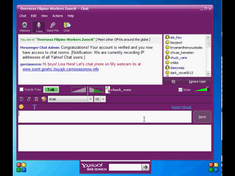 HOW TO JOIN INTO A CHATROOM USING YAHOO MESSENGER