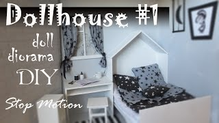 DIY: Dollhouse#1 How to make room for doll + Stop Motion Pullip