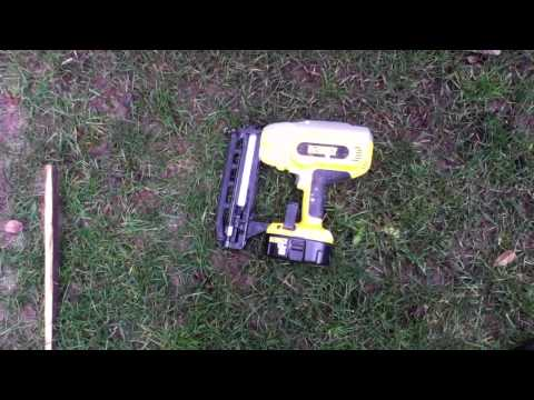 Dewalt DC616 Cordless 16G finish nailer review