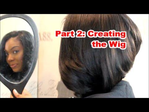 U-part BOB wig Tutorial Part 2  Quick weave method