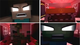 Five Nights With Herobrine ALL JUMPSCARES (MINECRAFT)
