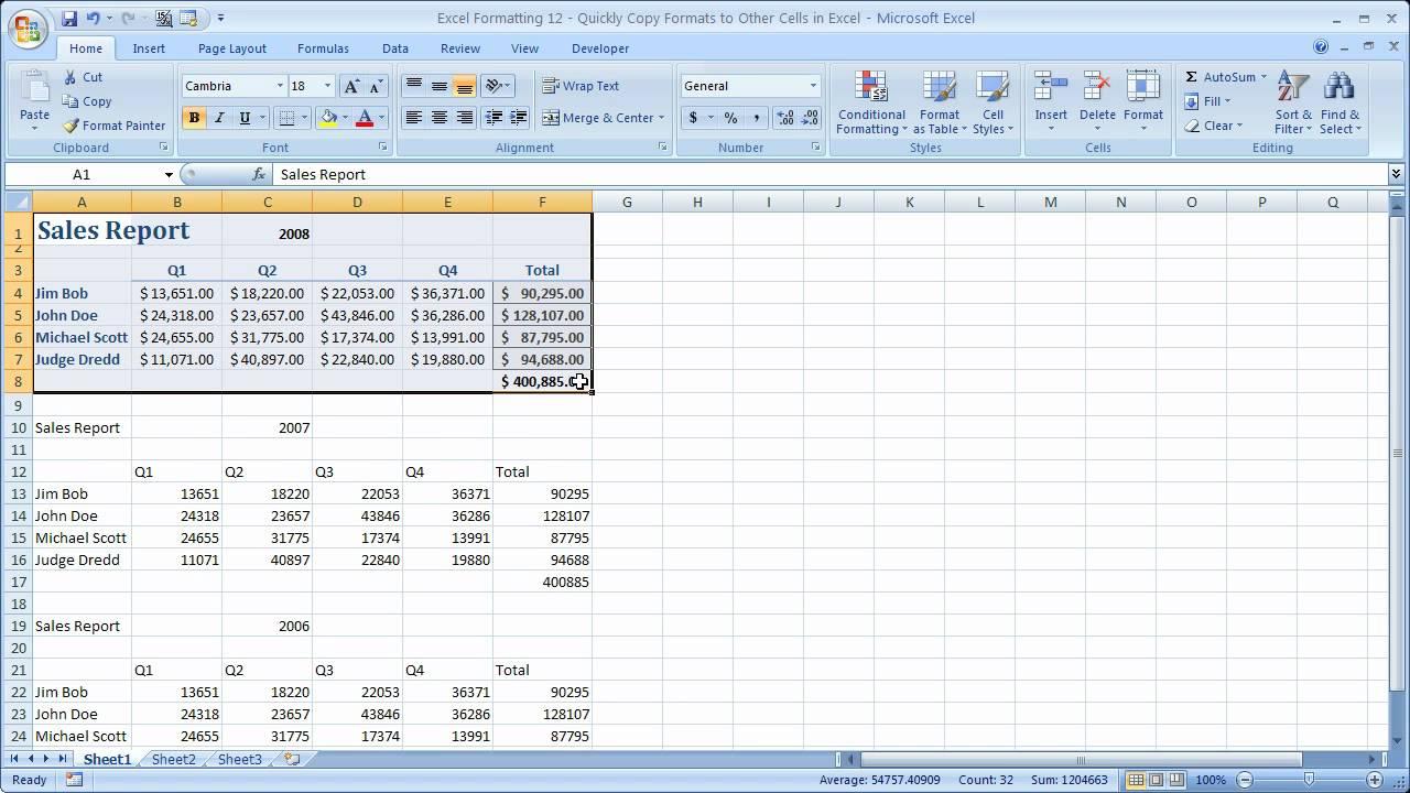 Excel Formatting 12