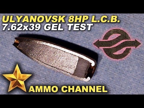 GEL TEST: 7.62x39 Ulyanovsk 8HP L.C.B. expansion