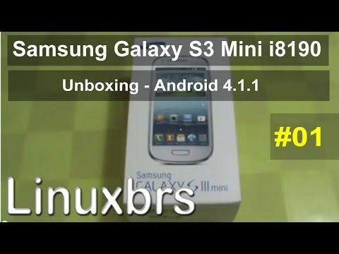 Samsung Galaxy S III Mini GT - I8190 - Unboxing - Android 4.1 - PT-BR Brasil - Português