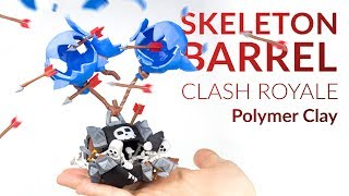 Skeleton Barrel (Clash Royale) – Polymer Clay Tutorial