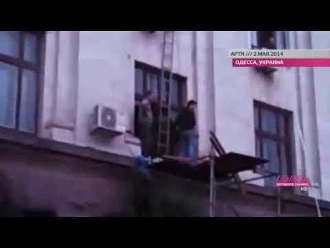 Trade Unions Building Fire Evacuation In Odessa Ukraine (Pt.1)