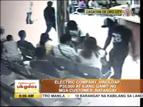 Robbery in CDO electric company caught on cam