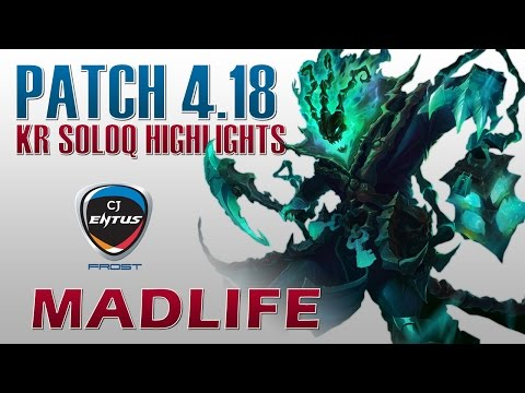 CJ Frost MadLife - Thresh Support - KR SoloQ Highlights